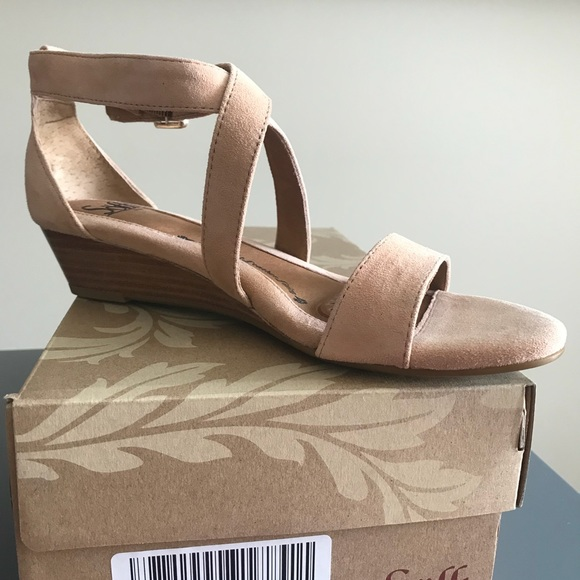 Sofft Shoes   Sofft Blush Suede Sandals